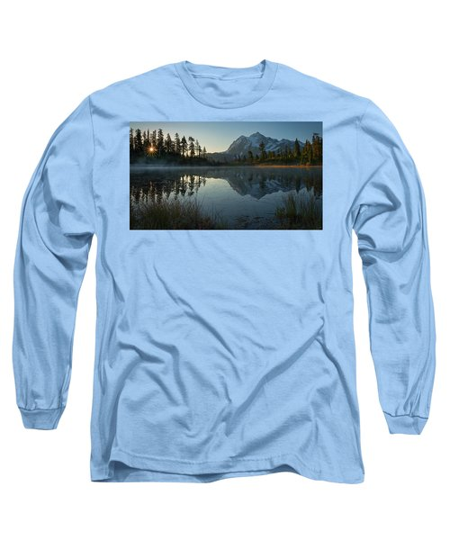 Frosty Picture Lake Long Sleeve T-Shirt by Dan Mihai