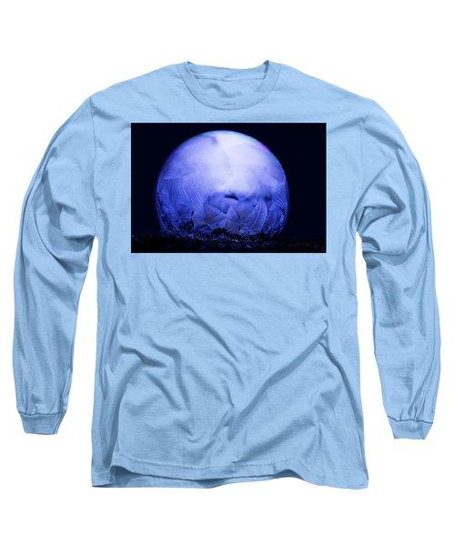 Frozen Bubble Art Blue Long Sleeve T-Shirt