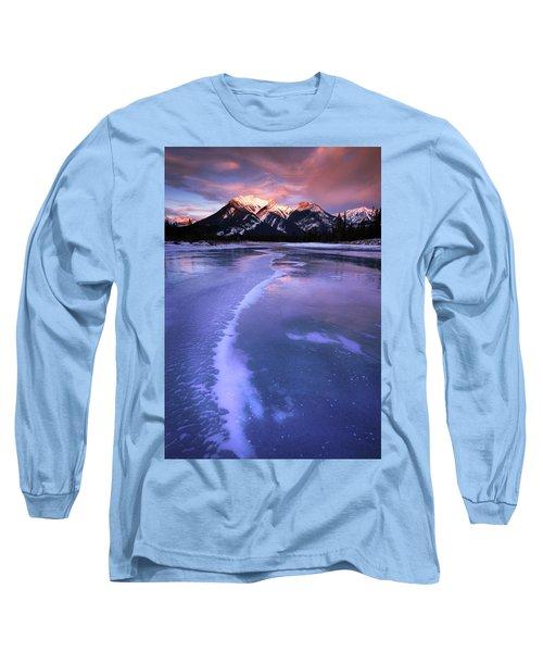 Frozen Sunrise Long Sleeve T-Shirt by Dan Jurak