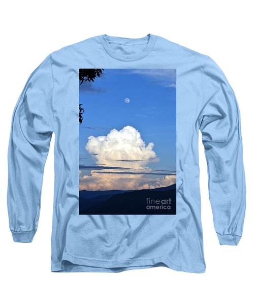 Full Moon Rising Over Blue Ridge Long Sleeve T-Shirt by Gary Smith