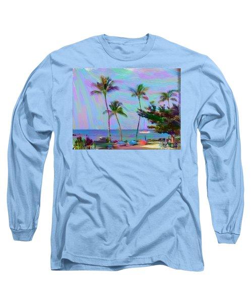 Fun At The Beach Long Sleeve T-Shirt by Karen Nicholson