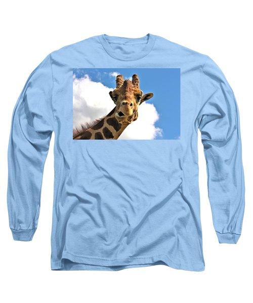 Funny Face Giraffe Long Sleeve T-Shirt