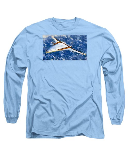 Long Sleeve T-Shirt featuring the painting Future Flight by Mario Carini
