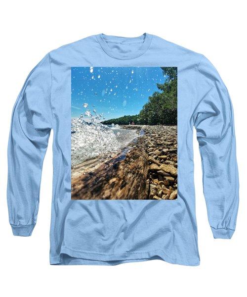 Galaxy Splash Long Sleeve T-Shirt by Nikki McInnes