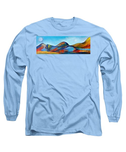 Long Sleeve T-Shirt featuring the painting Galaxyscape by Elizabeth Fontaine-Barr
