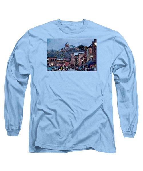 Long Sleeve T-Shirt featuring the digital art Galena Illinois by David Blank