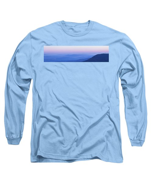 Long Sleeve T-Shirt featuring the photograph Galilee Mountains Sunset by Yoel Koskas
