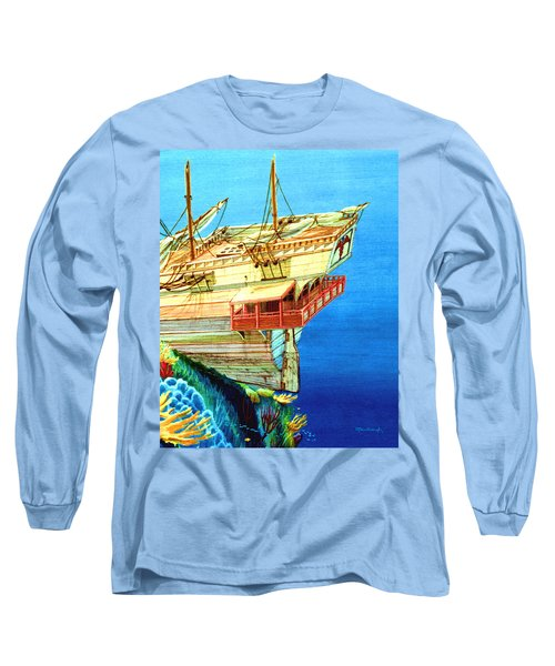 Galleon On The Reef 2 Filtered Long Sleeve T-Shirt