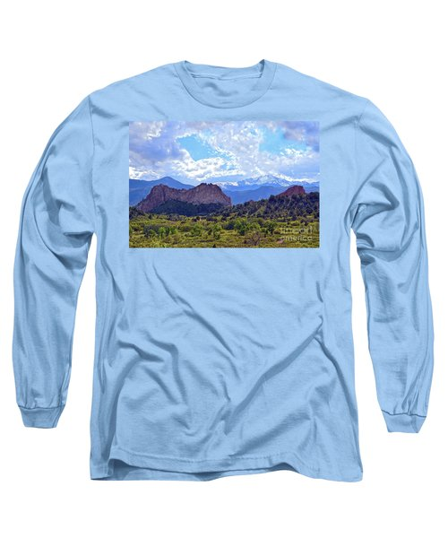 Garden Of The Gods Long Sleeve T-Shirt by Catherine Sherman