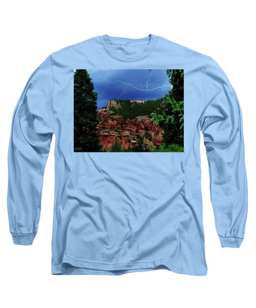 Long Sleeve T-Shirt featuring the digital art Garden Of The Gods by Chris Flees