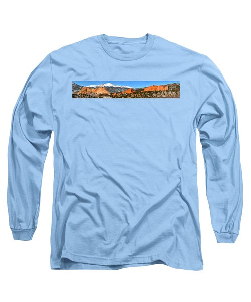 Long Sleeve T-Shirt featuring the photograph Garden Of The Gods Extended Panorama by Adam Jewell