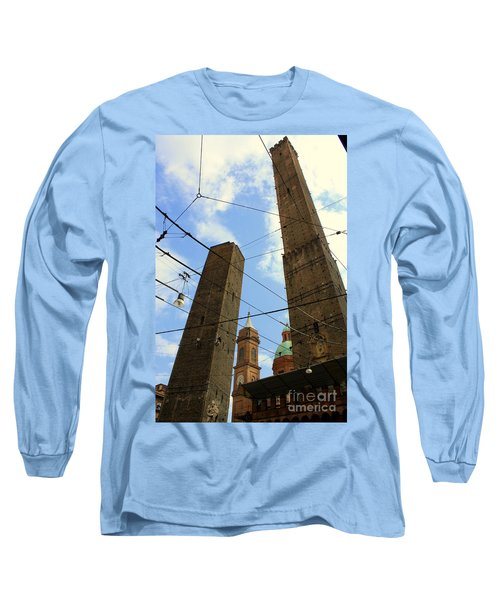 Garisenda And Asinelli Towers Long Sleeve T-Shirt