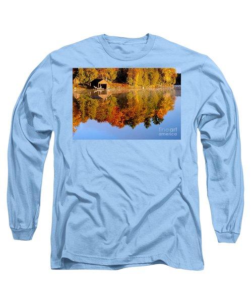 Gatineau Park Taylor Lake Long Sleeve T-Shirt by Rod Jellison