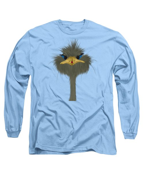 George And His Visitor  Long Sleeve T-Shirt by Michelle Brenmark