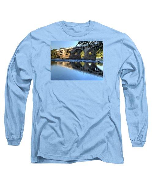 Gervais Street Bridge-1 Long Sleeve T-Shirt by Charles Hite
