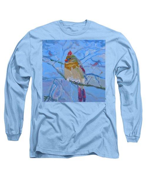 Girl Cardinal Long Sleeve T-Shirt