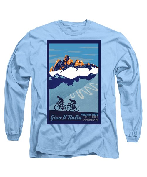 Giro D'italia Cycling Poster Long Sleeve T-Shirt
