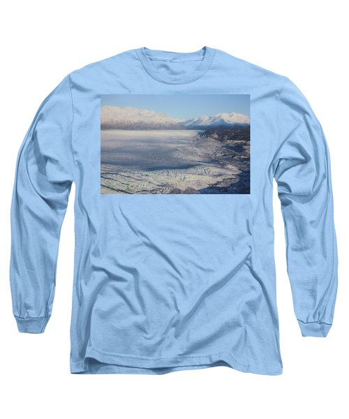 Glacier In Alaska Long Sleeve T-Shirt by Jingjits Photography