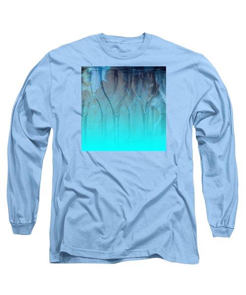 Glasses Floating Long Sleeve T-Shirt by Allison Ashton