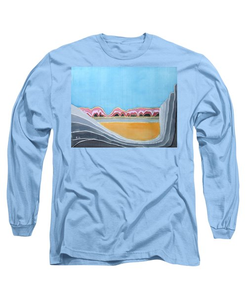 Global Warming Silk Melting Glaciers Valley Or Where Did All My Blue Glaciers Go  Long Sleeve T-Shirt by Rachel Hershkovitz