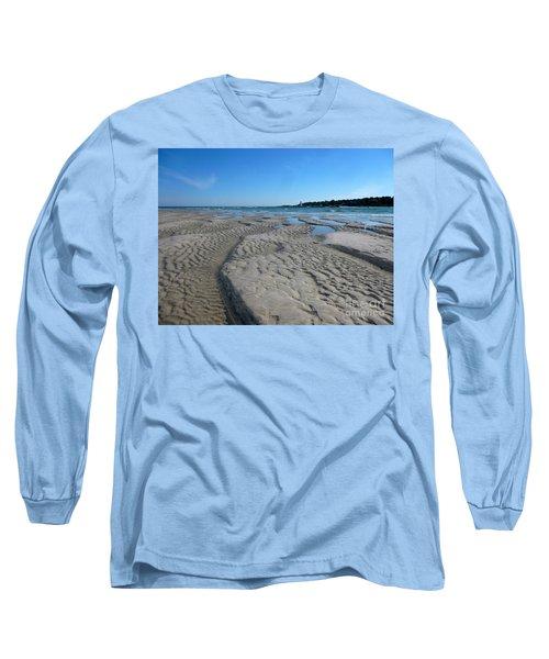 Gloucester Lighthouse Long Sleeve T-Shirt by Barbara Bardzik