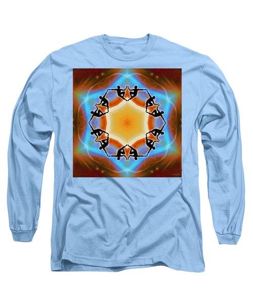 Long Sleeve T-Shirt featuring the digital art Glowing Heartfire by Derek Gedney