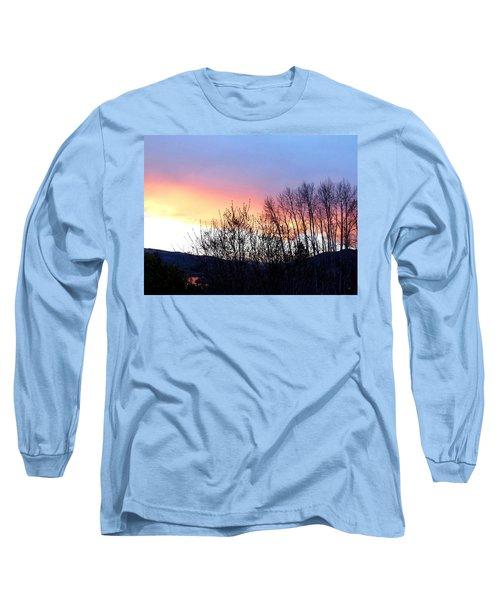 Glowing Kalamalka Lake Long Sleeve T-Shirt by Will Borden