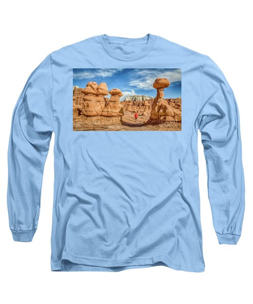 Goblin Valley State Park Long Sleeve T-Shirt by JR Photography