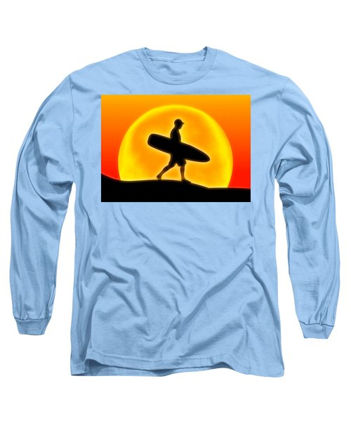 Goin' For A Surf Long Sleeve T-Shirt by Andreas Thust