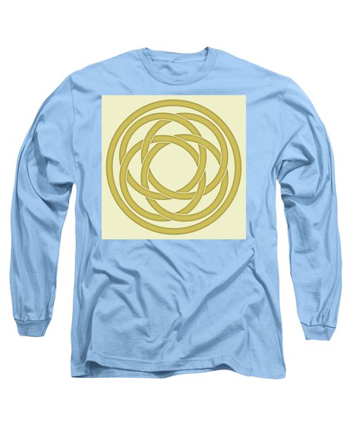 Long Sleeve T-Shirt featuring the photograph Gold Celtic Knot by Jane McIlroy