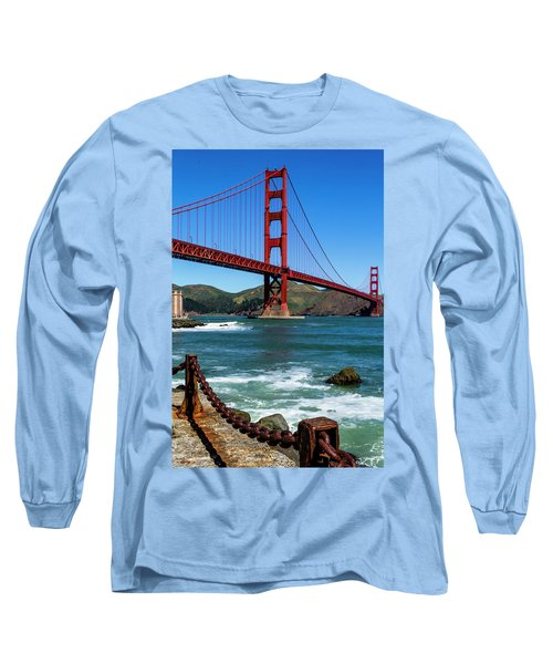 Golden Gate Bridge From Fort Point Long Sleeve T-Shirt by Teri Virbickis