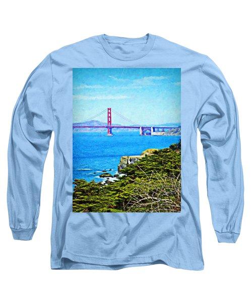 Golden Gate Bridge From The Coastal Trail Long Sleeve T-Shirt