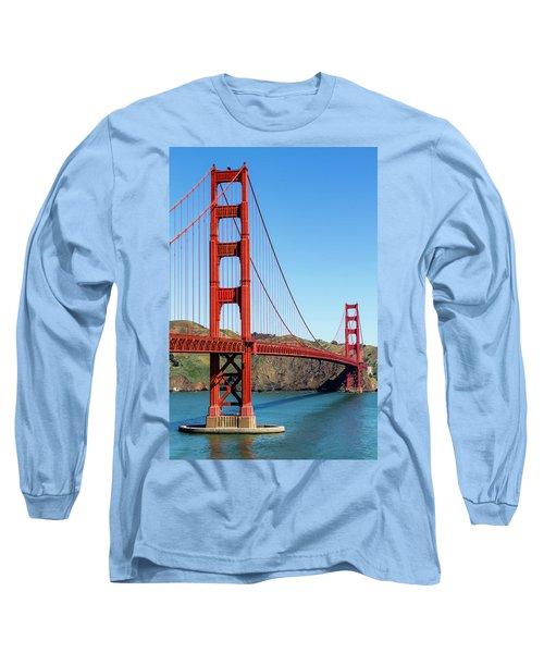 Golden Gate Bridge On Sunny Morning Long Sleeve T-Shirt by Teri Virbickis