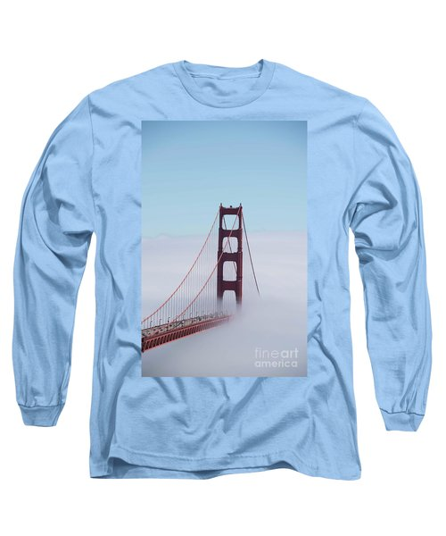 Long Sleeve T-Shirt featuring the photograph Golden Gate Fogged - 3 by David Bearden