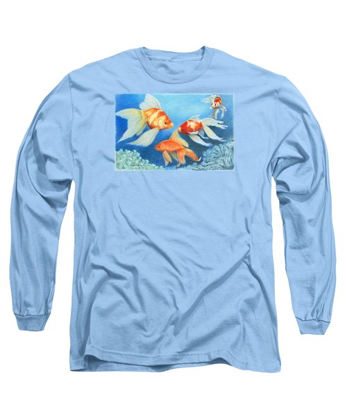 Goldfish Tank Long Sleeve T-Shirt by Phyllis Howard