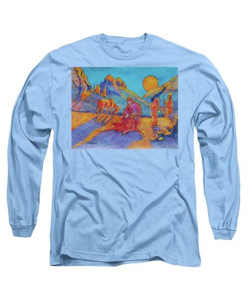 Good Samaritan Parable Painting Bertram Poole Long Sleeve T-Shirt by Thomas Bertram POOLE