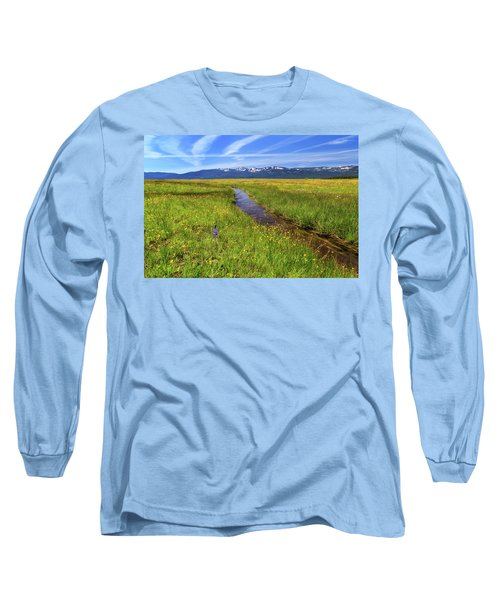 Long Sleeve T-Shirt featuring the photograph Goodrich Creek by James Eddy