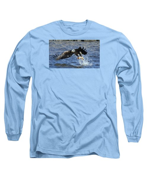 Long Sleeve T-Shirt featuring the photograph Grabbing Some Dinner by Coby Cooper