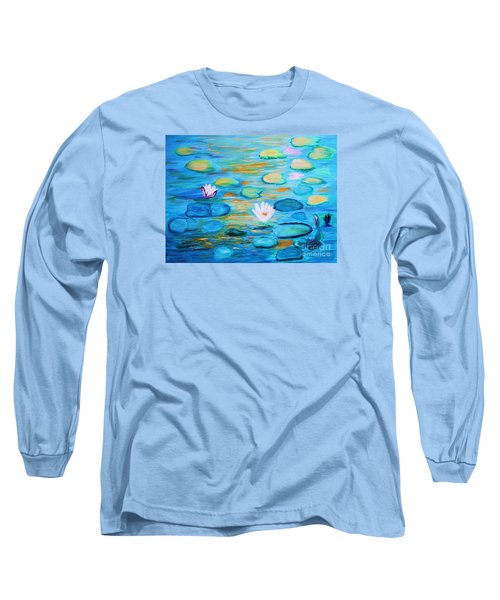 Graceful Pond From The Water Series Long Sleeve T-Shirt by Donna Dixon