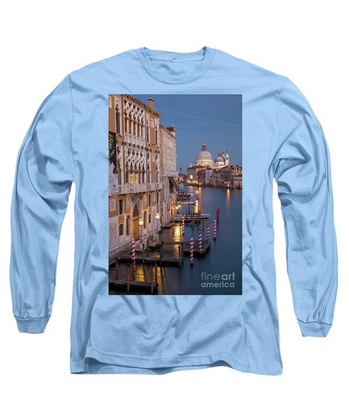 Long Sleeve T-Shirt featuring the photograph Grand Canal Twilight II by Brian Jannsen