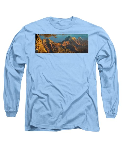 Grand Canyon Sunset Panorama Long Sleeve T-Shirt