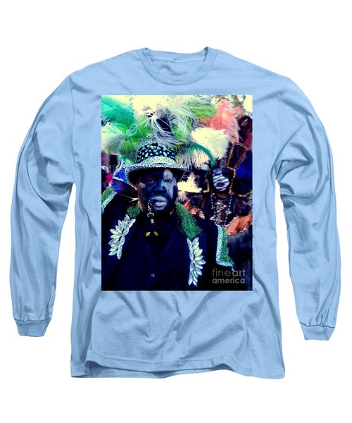 Grand Marshall Of The Zulu Parade Mardi Gras 2016 In New Orleans Long Sleeve T-Shirt