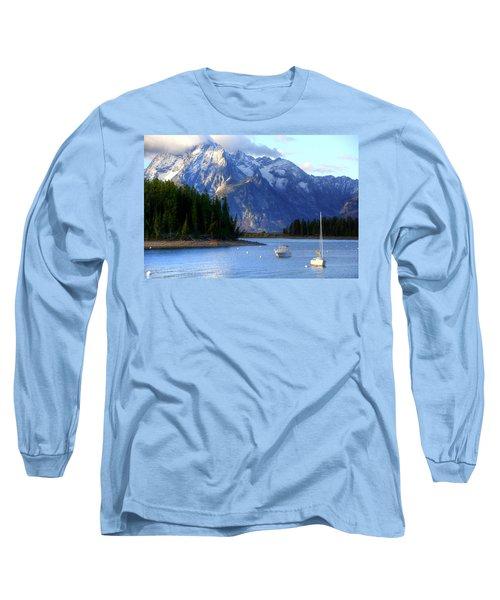 Grand Tetons Long Sleeve T-Shirt by Charlotte Schafer