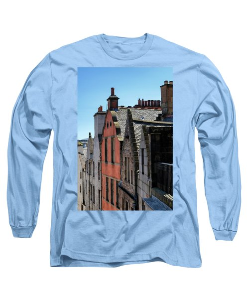 Long Sleeve T-Shirt featuring the photograph Grassmarket In Edinburgh, Scotland by Jeremy Lavender Photography