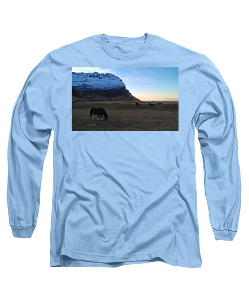 Grazing At Dawn Long Sleeve T-Shirt