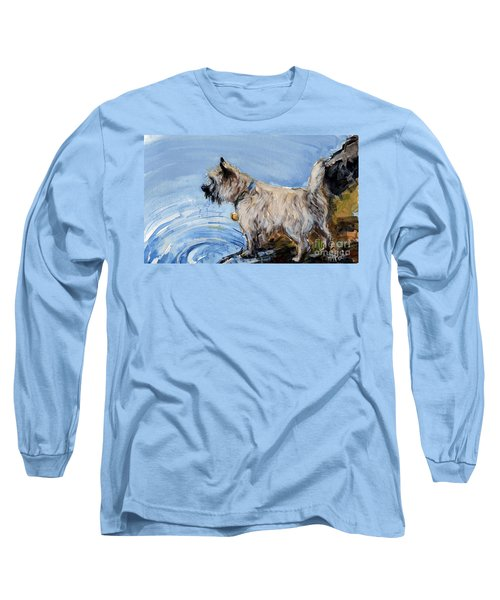 Long Sleeve T-Shirt featuring the painting Great Bay by Molly Poole