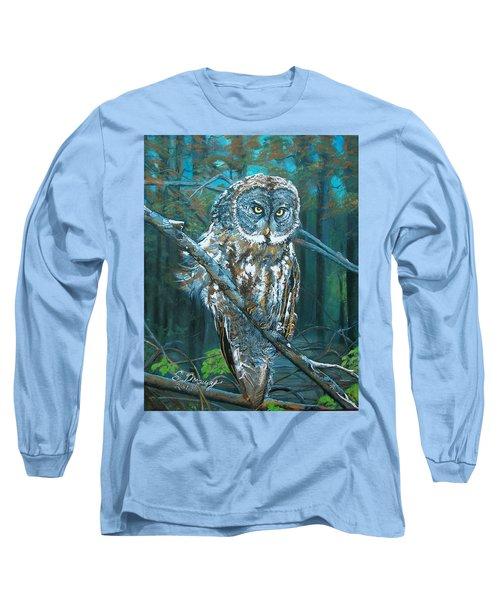 Great Grey Owl Long Sleeve T-Shirt