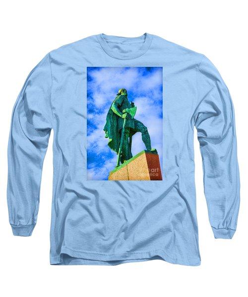 Green Leader Long Sleeve T-Shirt by Rick Bragan
