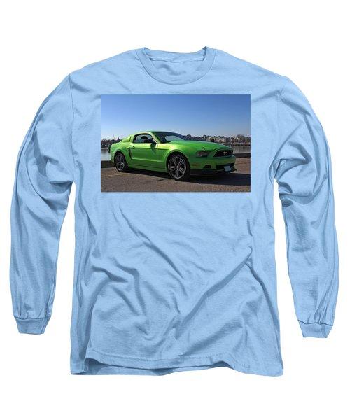 Green Mustang Long Sleeve T-Shirt