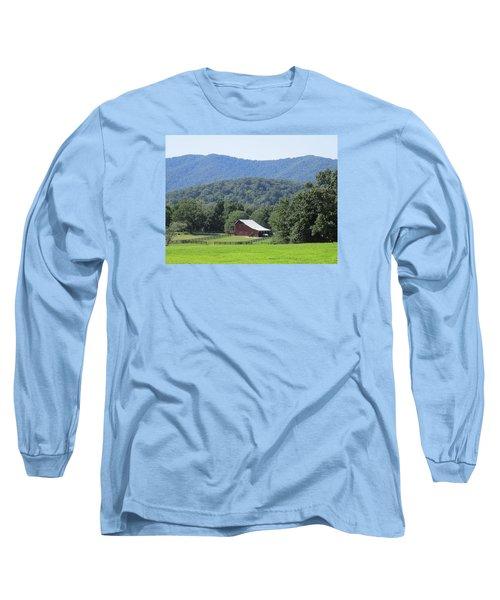 Mountain Barn Retreat Long Sleeve T-Shirt